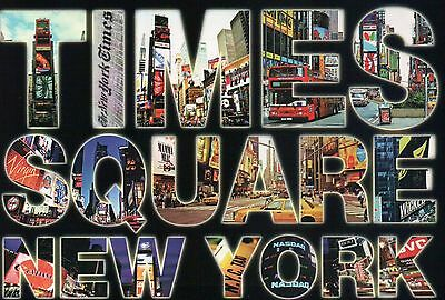 Times Square  Broadway  Nasdaq Etc  New York City Ny  Large Letter     Postcard