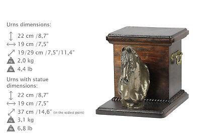 Fresian Horse, horse urn made of cold cast bronze, ArtDog, CA - kind2