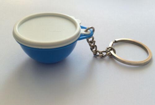 Tupperware KeyChain Thatsa Bowl Collectible Raindrop Blue New