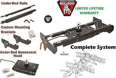 BULLDOG COMPLETE UNDERBED GOOSENECK TRAILER HITCH SYSTEM 99-16 FORD F250 F350