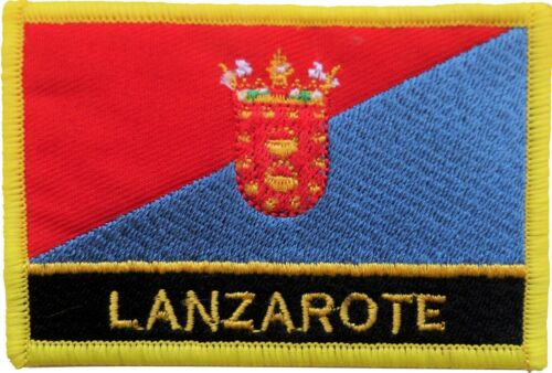 Spain Canary Islands Lanzarote Flag Embroidered Patch - Sew or Iron on