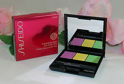 (New Shiseido Luminizing Satin Eye Color Trio YE406 .1oz /3g  Purple Green Yellow)