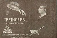 Pubblicità Vintage Princeps Cappello Uomo Moda Old Advert Publicitè Reklame A3 -  - ebay.it