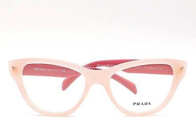 Prada VPR 23S UEW-1O1 Eyeglasses Frames Glasses Opal Pink on Pink (Pink Eye Glasses)