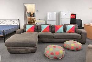 DELIVERY TODAY COMFORTABLE MODERN BROWN L shape sofas lounge Belmont Belmont Area Preview