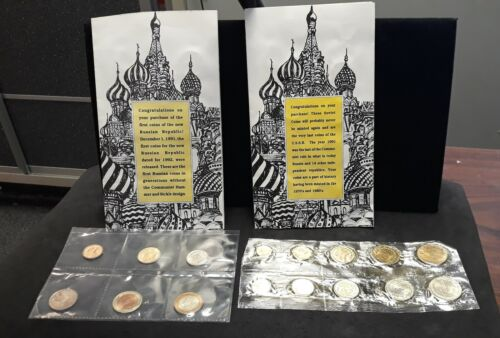 1968 The Last Coins of the USSR & 1992 The First Coins of the Russian Republic