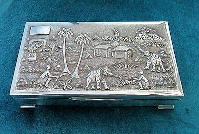 Solid silver Indian Box.