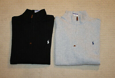 NEW Polo Ralph Lauren Big and Tall Pony Logo Half Zip Cotton Sweater  Half Zip Logo Sweater