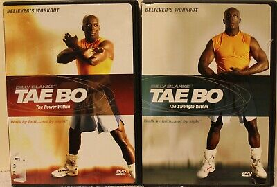 2 Billy Blanks Tae Bo Believer's workout DVD lot the power within strength ](Billies Wholesale)