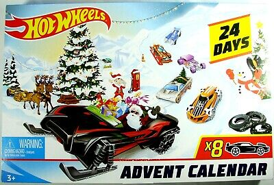 Hot Wheels ADVENT CALENDAR VEHICLES Set 1:64 8 Vehicles Included NIB Sealed