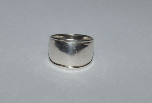 VINTAGE STERLING SILVER WIDE DOME RING SIZE 10