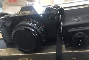 T 50 Canon 35 mm camera with 55mm lens
