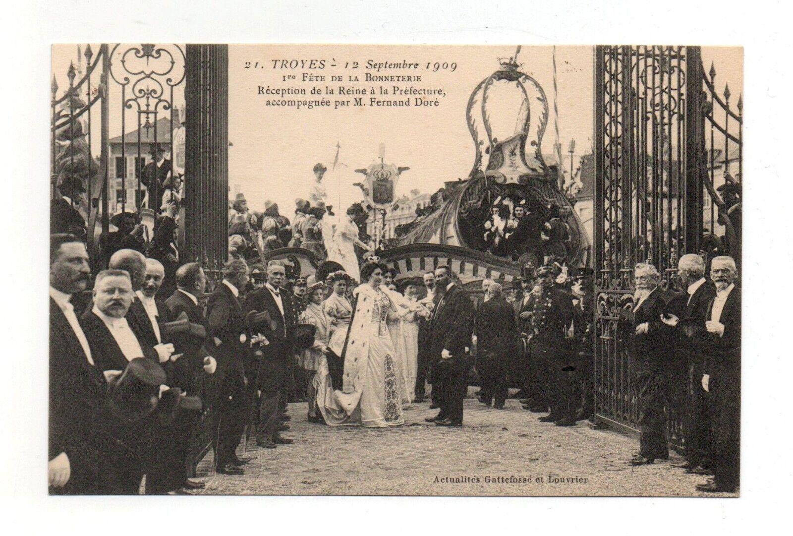 Troyes - fête de la bonnetière - 1909 - réception préfecture   (a2013)