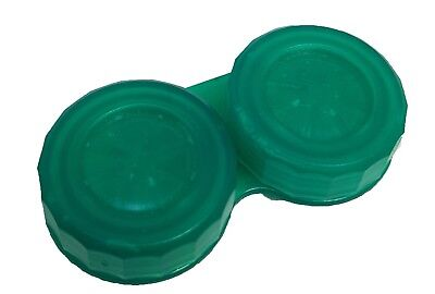 Translucent Jade Green Contact Lens Storage Soaking Case - L+R Marked - UK Made