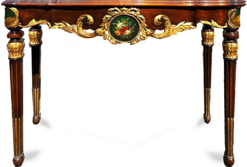 20th Century Neoclassical Gilded Sheraton Console Table