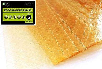 10 Large Sheets of Halal Silver Leaf Gelatine Beef Gelatin Sheet 170 blooms