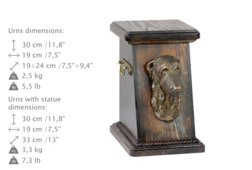 Deerhound, dog urn made of cold cast bronze, ArtDog, USA - kind3