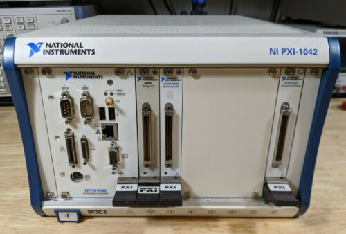 National Instruments PXI-1042 Chassis w/ 8186 Controller + 6602, 6052E & 4351