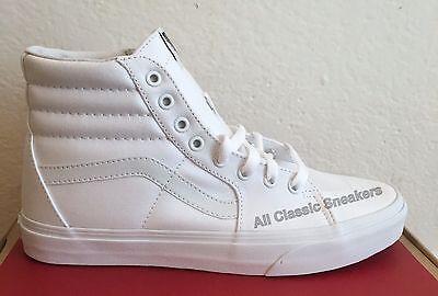 Vans Sk8 Hi White - Vans Classic SK8 Hi Top True White Fashion Mens Womens Canvas Shoes All Sizes