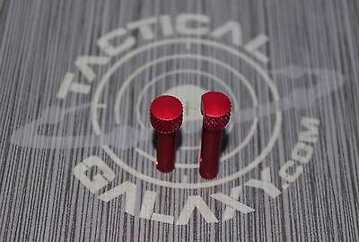 RED ANODIZED Extended Takedown & pivot Pins Front & Rear 223 300aac 5.56 6.8 spc
