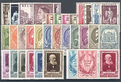 BE - BELGIUM 1952 complete year set MNH
