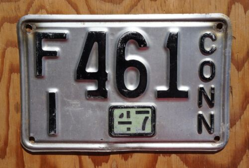 1947 Connecticut License Plate # 461