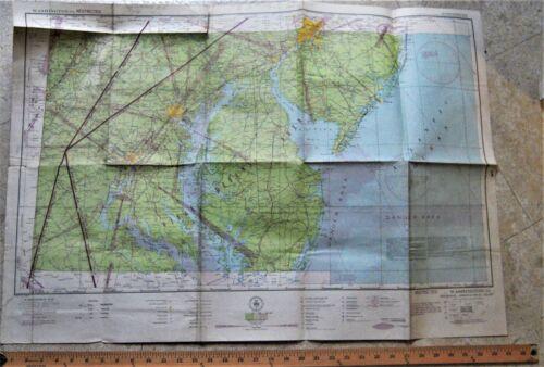 WWII RESTRICTED Aeronautical Map WASHINGTON DC Air Defense Area Capitol 1943
