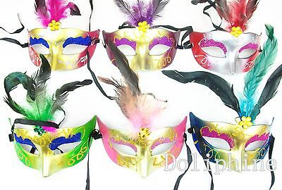 Buy Halloween Mask (Halloween Sexy feather Sparkle Bling Eye-Catching Mask Buy 1 get 1)