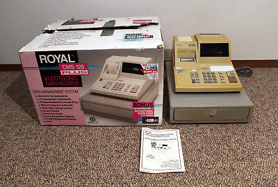 Royal Cms125 Plus Point Of Sale Cash Register In Box With Paperwork Pos