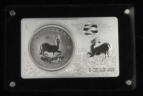 South Africa 2017 Krugerrand 3 Oz 999 Silver 50th Anniversary Coin & Bar Set GEM