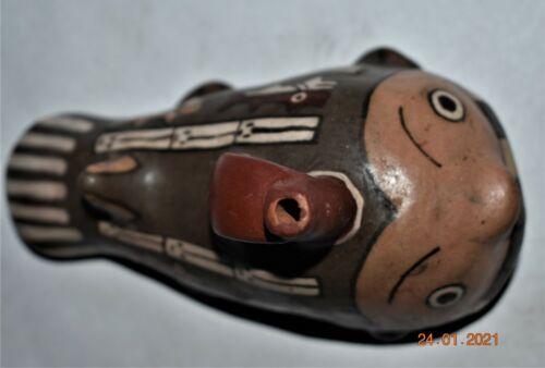 "ORIG $399. PRE COLUMBIAN NAZCA FIGURED FISH BOWL 5"" PROV"