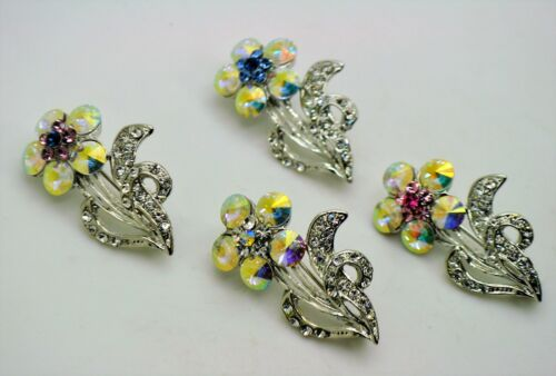 cute flower simply bouquet style mix color Crystal fashion Brooch Pin lot  278