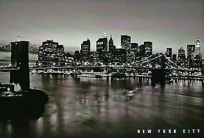 Brooklyn Bridge, Suspension, New York City, East River, Manhattan, NY - Postcard - Brooklyn Bridge, Suspension Bridge