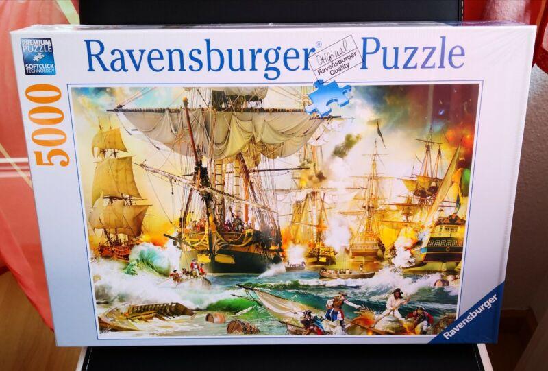 Ravensburger  Puzzle 5000 Teile Schlacht auf hoher See 13969 NEU/OVP