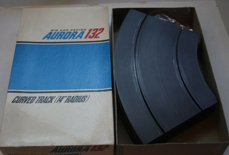 "Aurora 1/32 14"" Radius Curve Track Package of 6 in box NOS"