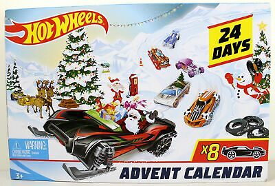 Hot Wheels Advent Calendar 2019 w/ Diecast Cars & Holiday Accessories