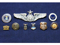 TWO COLOURS US MILITARY PILOT WINGS BADGE PIN USAAF AVIATOR WINGS INSIGNIA-255