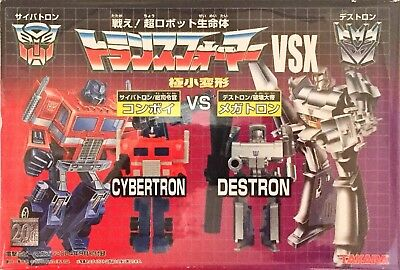 TRANSFORMERS G1 WORLDS SMALLEST WST JAPANESE MEGATRON AND CONVOY OPTIMUS PRIME
