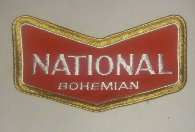 VINTAGE National Bohemian Beer Patch for shirt, jacket, 8""