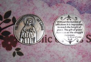 St. Saint. Rose of Lima - Quote - Pocket Coin