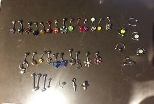 Earrings, belly button rings, posts