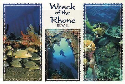 RMS Rhone Wreck UK Royal Mail Ship, British Virgin Islands SCUBA Diving Postcard