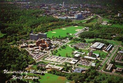 Aerial View of University of Michigan North Campus, Ann Arbor MI --- Postcard