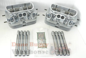 VW Type 1 Dual Port Cylinder Heads Pushrod Tubes Gaskets Top End Kit T1 Beetle