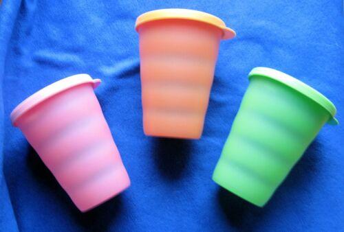 Set of 3 Tupperware Impressions  Dripless Straw Cups, 11 oz, 3218 & 3912 ~ VGC