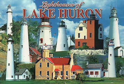 Mackinac Point Lighthouse - Lighthouses Lake Huron, Michigan, Old Mackinac Point etc. -- Lighthouse Postcard