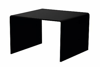 Black Riser Display Holder Counter Top 6 X 4 Acrylic Pedestal Trinket Stand