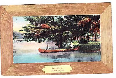 CANOING/CANOEING   BY WALTER   POSTCARD