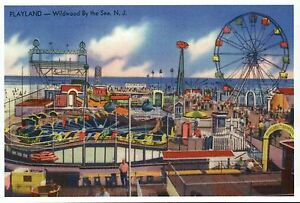 Wildwood By The Sea Playland NJ, Ferris Wheel, Amusement Park -- Modern Postcard
