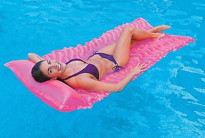 Inflatable Tote N Float Wave Mat Lounger Lilo Airbed Swimming Pool Raft Float